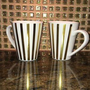 California Pantry Mug Golden Striped Design